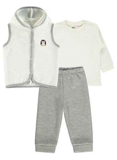 Civil Baby Civil Baby Kiz Bebek Yelekli Takim 6-18 Ay Gri Civil Baby Kiz Bebek Yelekli Takim 6-18 Ay Gri Gri